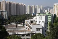 Looking down on an abandoned school (Marcus Wong from Geelong) Tags: kowloonbay hongkong hongkong2013