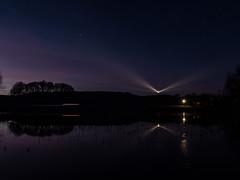 Dusk over Grieben, Hiddensee (astielau) Tags: hiddensee leuchturm nacht reflektionen