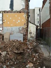 20170217 Blackpool B&B demolition (blackpoolbeach) Tags: blackpool bb hotel demolition brick wall crosssection joists filey place