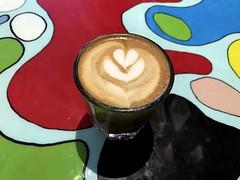 Cortado at Pavement Coffee, Boston (Bex.Walton) Tags: boston usa massachusetts travel winter snow coffeeshops specialitycoffee cafes cafe craftcafe pavementcoffee newburystreet backbay cortado latteart