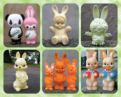 Wascally Wabbits (The Moog Image Dump) Tags: wascally wabbits rabbit bunny toy figure squeaker vintage cute kawaii