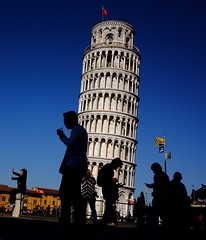 In their worlds (marcellopantaloni) Tags: italy pisa leaningtower thoughts worlds streetphotography street people siluette
