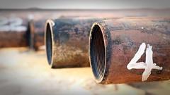 Numero Quatro (manogpatik) Tags: four rust pipe number quatro oilfield threads oilwell