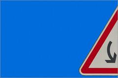 33/52 : Get Back (Hervé Marchand) Tags: blue sky abstract danger warning details bretagne minimal bleu negativespace ciel roadsign signalisation attention rennes panneaux cessonsévigné 52weeksthe2015edition week332015 weekstartingthursdayaugust132015
