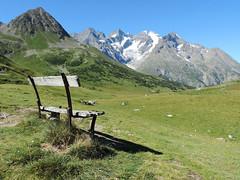 Bench at Lautaret Pass, France (terra-photos) Tags: france mountains alps alpes bench landscape paysage col banc montagnes lautaret