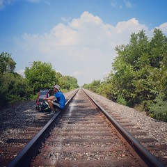 Sometimes it's best to take the train(tracks). In Lake Charles, LA. #TheWorldWalk #travel #twwphotos