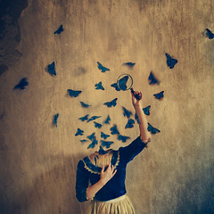 in your head (brookeshaden) Tags: fairytale surrealism butterflies conceptual whimsical fineartphotography darkart