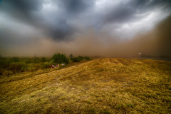 Thunderstorm in South Texas (mudpig) Tags: rural landscape highway memorial texas thunderstorm duststorm mudpig stevekelley us83 stevenkelley