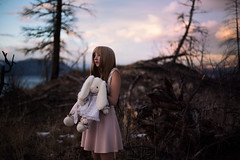 Run to the hills (Lichon photography) Tags: lichonphotography rabbit toy doll realdoll cosplay fantasy love scared fear whiterabbits pink sunsets surrealism conceptual fineart humandoll humanbarbie barbie emotional terrified female girl woman women holding hold moody