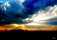 The God Light (liymouse_photo) Tags: light sky cloud landscape tokyo shinjuku godlight d7000