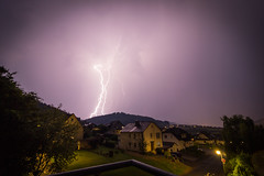 Thunder and lightning (Groman123) Tags: summer sky cloud nature weather night clouds canon germany deutschland eos nacht outdoor sommer natur himmel wolken cc creativecommons nrw thunderstorm lightning gewitter thunder wetter donner blitze ccbysa drausen 700d