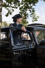 Counting them back (Beth Hartle Photographs2013) Tags: duxford reenactment raf scramble dispersal homeguard wraf middlewallop 609sqndispersal 1940battleofbritainairshow airtrafficcontrolcaravan wrafdriver 1937vauxhallcar