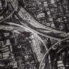 The crossroads. #aerial #aerialphotography #cityscape #la #losangeles (tmo-photo) Tags: square squareformat mayfair iphoneography instagramapp uploaded:by=instagram