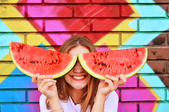 shades (Snowferma (active account)) Tags: street friends summer anna art colors smile sunshine fruit laughing happy colorful mood pattern bright happiness watermelon laugh unusual lovely aloha snowferma dushenko