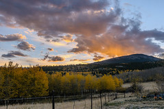 Sunset Behind Little Baldy Mountain (Z-Imagery) Tags: autumn sunset cloud como tree fall nikon colorado southpark nikkor d300 parkcounty 2470mmf28 littlebaldymountain