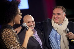 Carla Hall on Stage with Andrew Zimmern and Jose Andres on Stage in 2013 (DC Central Kitchen) Tags: joseandres andrewzimmern carlahall capitalfoodfight