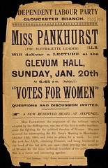 Leaflet for lecture, 'Votes for Women' ,1907.