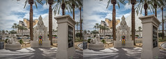 I and Luxor in Las Vegas (urix5) Tags: usa statue sphinx palms myself hotel us stereoscopic 3d crosseyed unitedstates lasvegas nevada egypt sunny casino stereo stereopair luxor pyramide crossview i