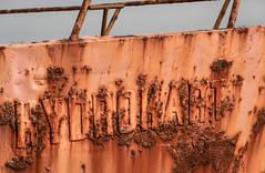 Rusty (languitar) Tags: red colors sign germany de deutschland boat rust ship name places rgen mecklenburgvorpommern wiek lens:aperture=40 lens:maker=nikon lens:focallength=24120 lens:type=afsnikkor24120mmf4gedvr