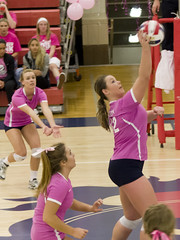 DAVE2551 (David J. Thomas) Tags: sports athletics women volleyball arkansas pioneers awareness breastcancer scots batesville pinkout lyoncollege crowleysridgecollege