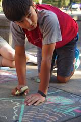 MS20151021-003.jpg (Menlo Photo Bank) Tags: ca boy people music usa fall us chalk student drawing arts quad visualart middleschool individual atherton 2015 menloschool photobymaurasmith