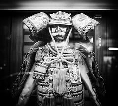 storefront samurai (dr.milker) Tags: blackandwhite bw japanese restaurant taiwan  taipei samurai       ningbowrd