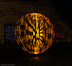 DSC_9013 (andrzejpor) Tags: longexposure light lightpainting wool blackbackground ball painting globe nikon media outdoor steel orb led dslr sparks steelwool steelwire anawesomeshot nikonflickaward d5100 iamnikon steelwoolburning nikond5100