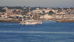 St Peter Port - Guernsey (Mark Wordy) Tags: harbour po cruiseship ferries guernsey channelislands stpeterport saintpeterport condorferry venturacruise guernseycruise