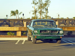 Green Ford Mustang 12-12-15 (1) (Photo Nut 2011) Tags: california ford car mustang orangecounty sanclemente outletsatsanclemente