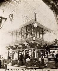 Rice Exhibit - 1893 World's Fair in Chicago (Peer Into The Past) Tags: peerintothepast photography blackandwhite vintage 1893 worldsfair history chicago