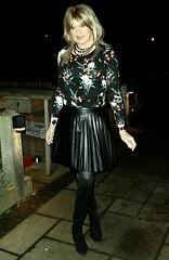 New Pub (Amber :-)) Tags: black pu sunray mini skirt tgirl transvestite crossdressing