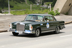 Mercedes-Benz 280 Coupe (1969) (Roger Wasley) Tags: mercedes benz 280 coupe 1969 arlberg classic car rally 2016 lech austrian alps austria europe