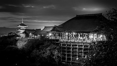 Kiyomizu-dera (清水寺) (Gerald Ow) Tags: kiyomizudera 清水寺 buddhist temple kyoto japan geraldow 京都市 日本 sony a7rii a7r2 ilce7rm2 long exposure black white bw fe 2470mm f28 gm g master kiyomizu flickr ngc