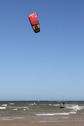 20170122_1113 kite-boarding at Ocean Grove