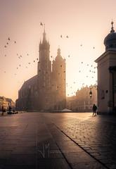 Amanecer en Cracovia (Javier Martínez Morán) Tags: amanecer sunrise cracovia krakow crakov polonia poland church iglesia santa maria plaza main square architecture arquitectura travel viaje