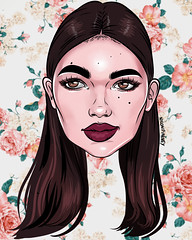 Cartoon heads by Nylon Pinkney❥tysm! (Anna Ivanovna) Tags: nylonpinkney cartoon elleinadart drawing