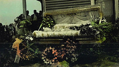 In Repose (~ Lone Wadi ~) Tags: death funeral outdoors lostphoto retro deceased corpse casket 1930s unknown flowers floral wake residence yard
