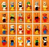 Fabuland Family (Vanjey_Lego) Tags: lego minifig minifigs minifigure minifigures animals fabuland nakedhead