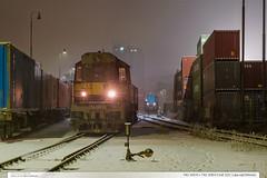 742.105-0 + 742.209-0 | trať 331 | Lípa nad Dřevnicí (jirka.zapalka) Tags: train trat331 cdcargo lipanaddrevnici metrans winter snow stanice rada742 czech
