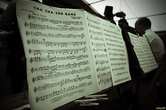 CHA CHA FOR BAND (Coolcats100) Tags: 2016 canon canon650d coolcats100 germany deutschland wessex military band music stands sheet cha for july black bw white blackandwhite sigma indoor text writing document