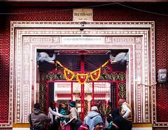 Entrance to ashram (Mivr) Tags: india haridwar swastika ashram entrance door x100s