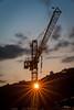 Crane at Dusk Taormina (Bommer60) Tags: taormina crane construction sicilia sicily messina dusk abenddämmerung longexposure lightstreams bluesky cloudsstormssunsetssunrises clouds sigma150500mm outdoor outside towercrane