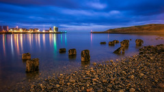 Blue, Blue, Blue.jpg (___INFINITY___) Tags: 6d aberdeen harbour blue canon darrenwright dazza1040 eos infinity light longexposure night reflection scotland seascape