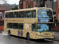 NCT 745 Gold Bus 120 Years (timothyr673) Tags: nct nottinghamcitytransport 745 bus scania omnidekka spare