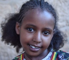Tigray Girl (Rod Waddington) Tags: africa african afrika afrique ethiopia ethiopian ethnic etiopia ethnicity ethiopie etiopian äthiopien tigray adigrat girl portrait outdoor face hairstyle smile
