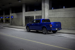 Big Blue (SNAPShots by PJW *Join LNP*) Tags: truck blue colorful night lines automotive worldcars contrast alley vehicles ford flickr trucks cars light street outside canon snapspjw patrickjwhitfield patrick pjw snapshots