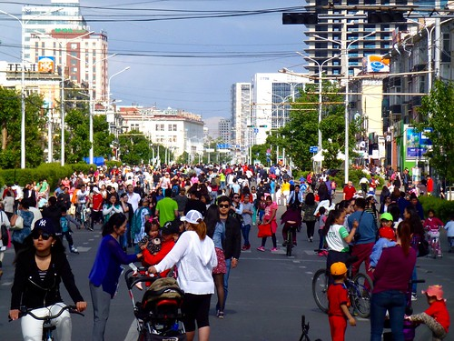 Car-free day in Ulaanbaatar