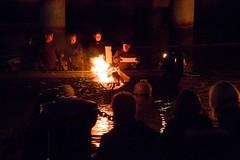 Feeding the Fire (Photograph by Drew Christhilf) (waterfireprov) Tags: brazier eos feeding volunteers woodboat