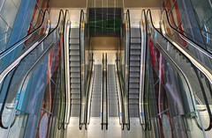 Up and down (mennomenno.) Tags: roltrappen escalators demarkthal rotterdam