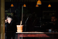 Another Ghost (Thomas Listl) Tags: thomaslistl color street café light shadow table people urban lamps